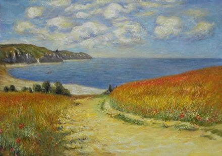Monet, Claude: Path Through the Corn at Pourville. Fine Art Landscape Print.  (002834)